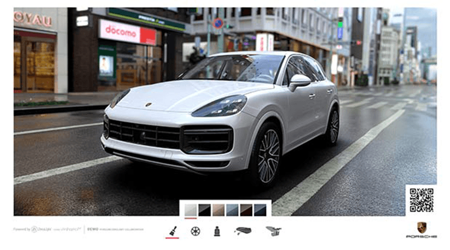 Porsche QR codes proximity marketing 2019